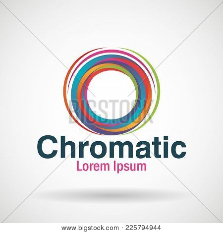 Chromatic Emblem Business Icon Vector Illustration Design