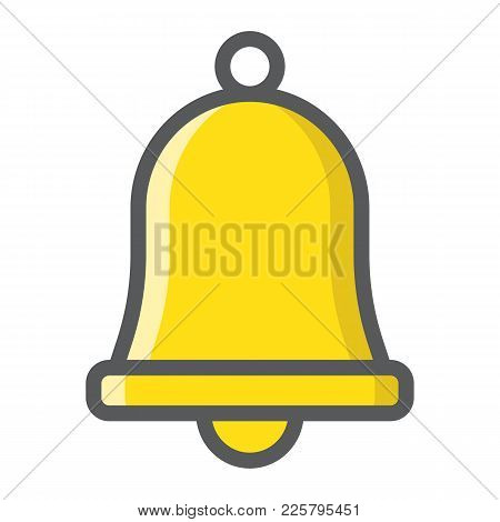 Easter Bell Filled Outline Icon, Easter And Holiday, Jingle Sign Vector Graphics, A Colorful Line Pa