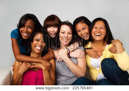 Portrait Of A Diverse Group Of Mothers And Daughters.
