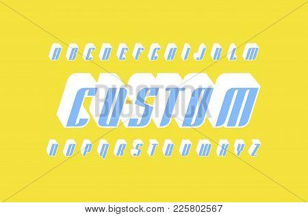 Decorative Italic Sans Serif Bulk Font In Racing Style. Letters For Logo And Title Design. Color Pri