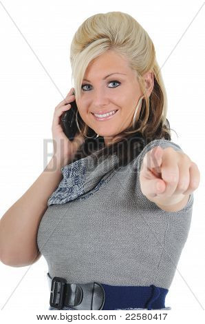 Attractive Woman Using A Smart Phone 05