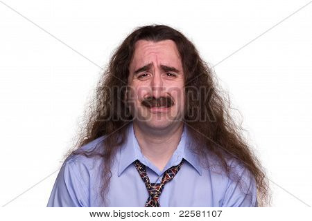 Long Haired Man Crying1