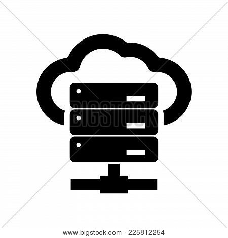 Hosting Icon Isolated On White Background. Hosting Icon Modern Symbol For Graphic And Web Design. Ho