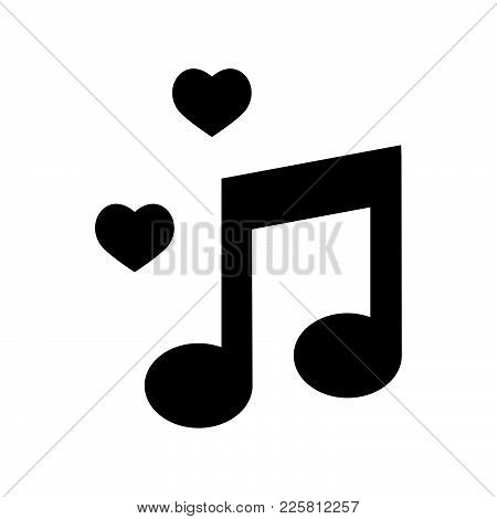 Music Icon Isolated On White Background. Music Icon Modern Symbol For Graphic And Web Design. Music
