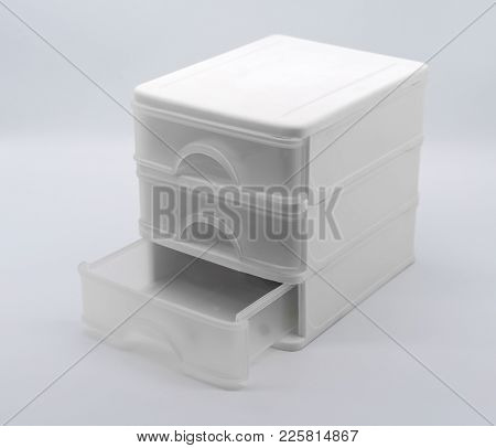Three Storey Box Isolated On White Background