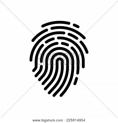 Fingerprint Icon Isolated On White Background. Fingerprint Icon Modern Symbol For Graphic And Web De