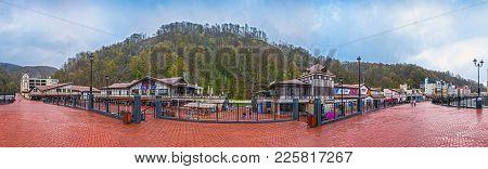 Sochi, Russia - April 20, 2015: Panoramic View Of Rosa Khutor Resort