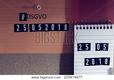 Board With The Inscription Hashtag #dsgvo (general Data Protection Regulation) In English Gdpr (gene