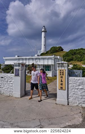 Ludao, Taiwan - October 28, 2017: Lighthouse On The Island Of Lu Dao On 28 October 2017 In Ludao, Ta