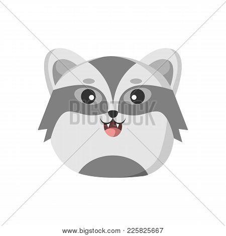Cute Badger Animal Head Vector Illustration Graphic Design