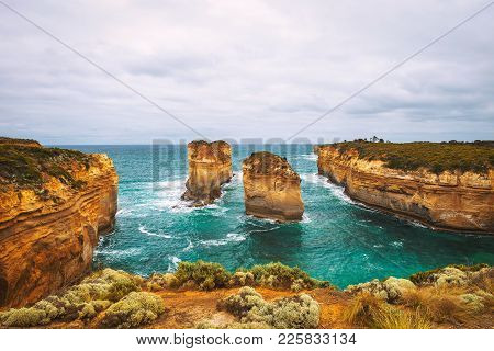 Loch Ard Gorge Along The Famous Great Ocean Road In Victoria, Australia, Near Port Campbell And The