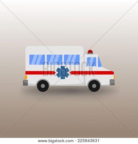 Public Ambulance Car Transportation Vector Illustration Graphic Design