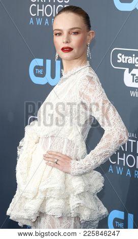 Kate Bosworth at the 23rd Annual Critics' Choice Awards held at the Barker Hangar in Santa Monica, USA on January 11, 2018.