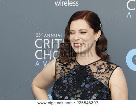 Rachel Bloom at the 23rd Annual Critics' Choice Awards held at the Barker Hangar in Santa Monica, USA on January 11, 2018.