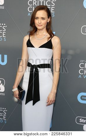 Alexis Bledel at the 23rd Annual Critics' Choice Awards held at the Barker Hangar in Santa Monica, USA on January 11, 2018.