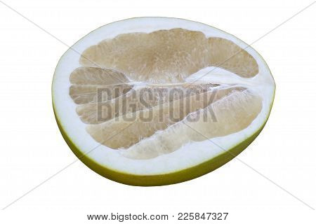 One Half Of A Pamela In A Close-up Cut On A White Background