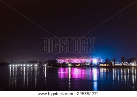 Russia, Rostov-on-don, January 24, 2018: Football Stadium Rostov Arena. The Stadium For The 2018 Fif
