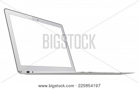 Laptop Mockup With Blank Screen Isolated - 34 Left View. Showcase Your Websites Or Digital Projects