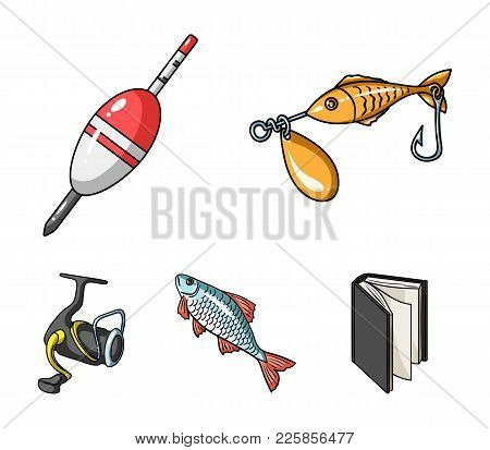 Fishing, Fish, Catch, Hook .fishing Set Collection Icons In Cartoon Style Vector Symbol Stock Illust