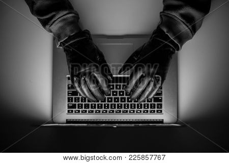 Cybercrime, A Laptop Hacker, Writes Codes To Access Unauthorized Things, An Illegal Way, Hacker, Cri