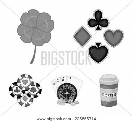 Excitement, Casino, Game And Other  Icon In Monochrome Style. Cheating, Entertainment, Recreation, I