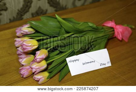 Spring Bouquet Of Tulips Photo