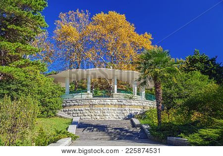 Park Arboretum Is A Landmark Place In The Resort Town Of Sochi, Where People Like To Relax At Any Ti