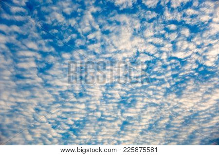 Full Frame Background, Beautiful Receding Altocumulus Cloud Formation.