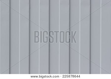 Gray Metal Corrugated Sheet  As Background And Texture.