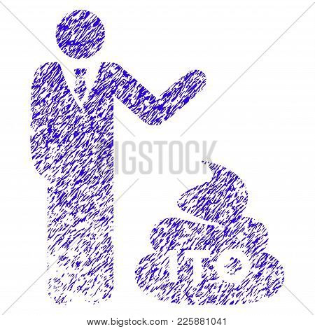 Grunge Businessman Show Ito Shit Rubber Seal Stamp Watermark. Icon Symbol With Grunge Design And Scr