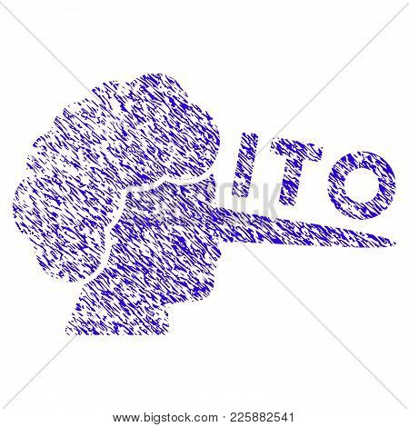 Grunge Ito Lier Rubber Seal Stamp Watermark. Icon Symbol With Grunge Design And Unclean Texture. Unc