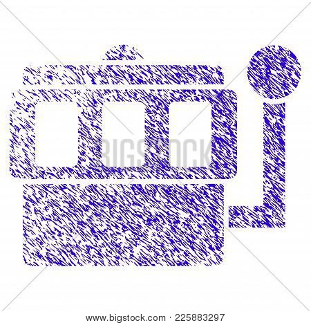 Grunge One-armed Bandit Rubber Seal Stamp Watermark. Icon Symbol With Grunge Design And Dirty Textur