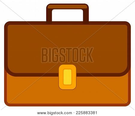 School College University Cartoon Icon Poster Leather Bag Briefcase Backpack. Flat Vector Illustrati