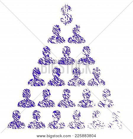 Grunge Ponzi Pyramid Scheme Rubber Seal Stamp Watermark. Icon Symbol With Grunge Design And Dirty Te