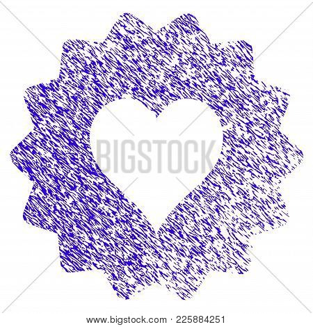 Grunge Hearts Token Rubber Seal Stamp Watermark. Icon Symbol With Grunge Design And Dust Texture. Un