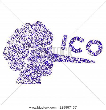 Grunge Ico Lier Rubber Seal Stamp Watermark. Icon Symbol With Grunge Design And Unclean Texture. Unc