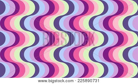 Fashionable, Geometric Wavy Background In Shades Of Ultraviolet For Interior, Design, Advertising, I