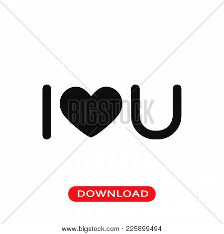 I Love You Icon Vector In Modern Flat Style For Web, Graphic And Mobile Design. I Love You Icon Vect