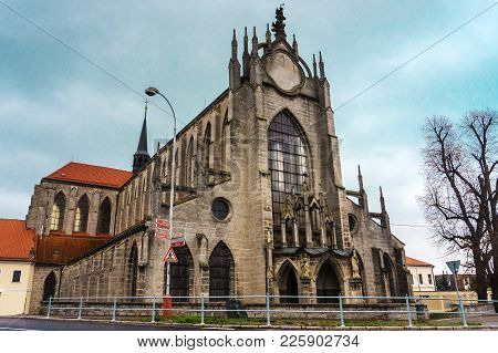 Gothic Church Of The Assumption Of Our Lady And Saint John The Baptist In Kutna Hora, Czech Republic