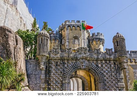 Sintra Pena National Palace (palacio Nacional), Portugal.