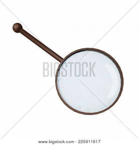 Magnifying Glass Vector Illustration. Realistic Loupe On White Background.