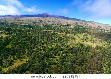 View From The Above Of The Big Island Of Hawaii