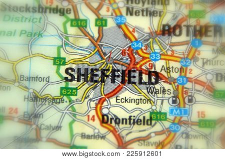 Sheffield, A City In South Yorkshire, England.
