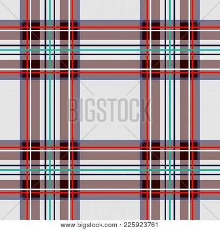 Scottish Cage, White Celtic. Scottish White Checkered Background. Scottish Pattern. Vector Illustrat