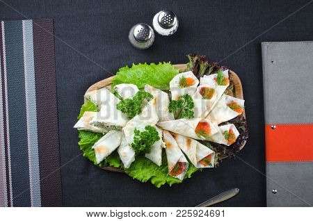 Roll In Lavash Wrapped Salmon With Philadelphia Cheese