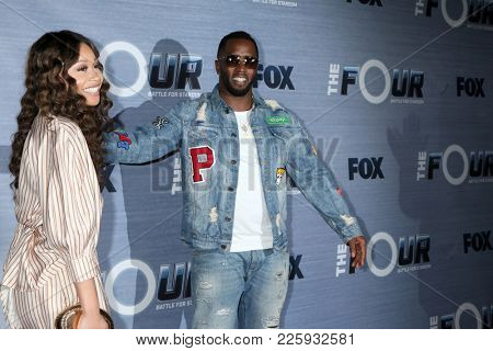 LOS ANGELES - FEB 8:  Evvie McKinney, Sean Combs, Diddy at the