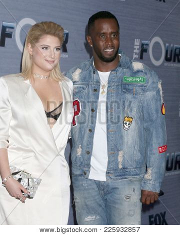 LOS ANGELES - FEB 8:  Meghan Trainor, Sean Combs at the