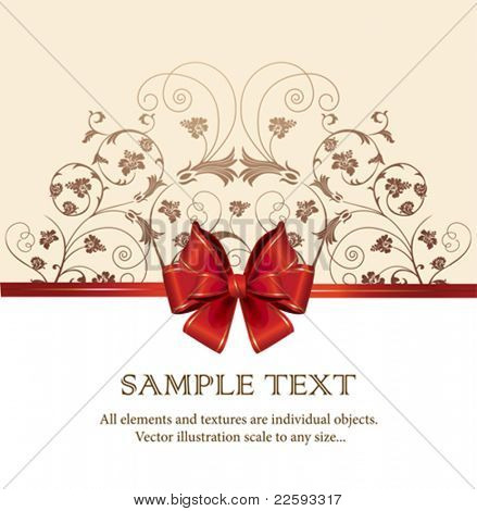 Celebrate bow background. All elements and textures are individual objects. Vector illustration scale to any size.