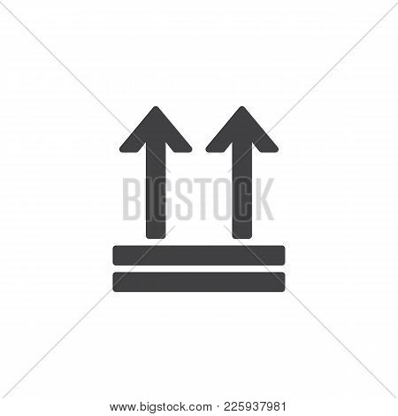 Keep Up, Package Handling Label Icon Vector, Filled Flat Sign, Solid Pictogram Isolated On White. Ar