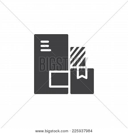 Delivery Packaging Boxes Icon Vector, Filled Flat Sign, Solid Pictogram Isolated On White. Cardboard
